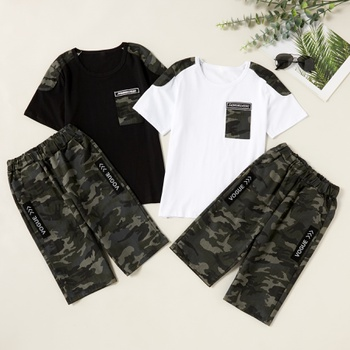 Trendy Camouflage Tee and Shorts Sets