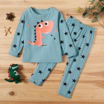 2-piece Baby / Toddler Dinosaur Stars Print Household Set