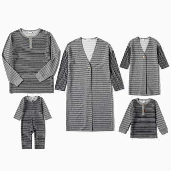 Mosaic Family Matching Stripe Series Sets( Cardigans for Mom and Me)