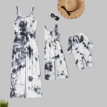 Mommy and Me Tie Dye Tank Jumpsuits