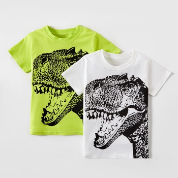 Fashionable Dinosaur Short-sleeve Tees