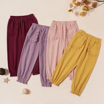 Toddler Girl Solid Casual Pants