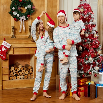 Mosaic Family Matching Reindeer Christmas Pajamas Sets Within 1 Christmas Hat (Flame Resistant)