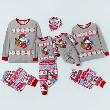 Smurfs Papa Smurf Fairisle Family Matching Pajamas(Flame Resistant)