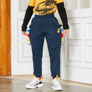 Stylish 3D Dinosaur Embroidered Pants