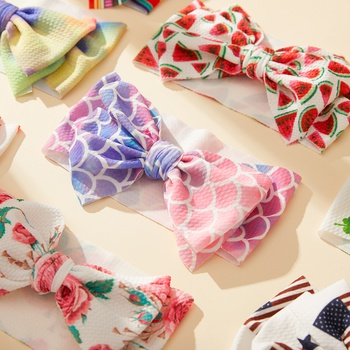 Baby Colorful Pattern Bowknot Decor Hairband
