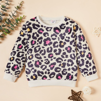 Toddler Girl Leopard Pullovers