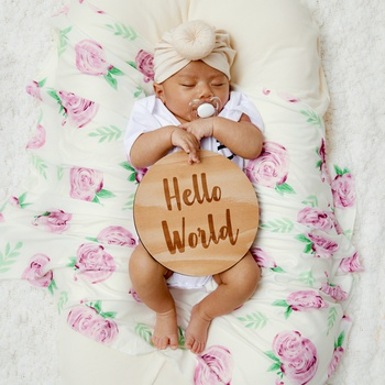 Spring Summer Floral Newborn Baby Swaddle Blanket Infant Swaddle Wrap Outfits Photograph