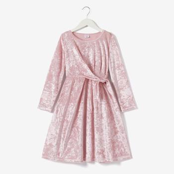 Kid Girl Elegant Velvet Dress