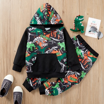 2-piece Baby / Toddler Dinosaur Hooded Pullover and Pants Set