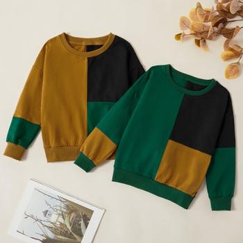 Kids Boy Trendy Splice Sweatshirt