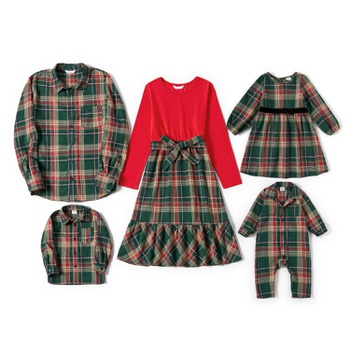Mosaic Christmas Series Family Matching Plaid Sets