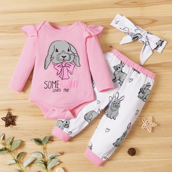 3-piece Rabbit Pattern Baby Set