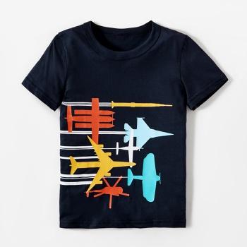 Trendy Airplanes Race Print Tee