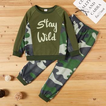 Kid Boy Camouflage Sweatshirt & Pants Set
