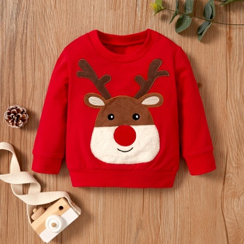 Christmas Baby Unisex casual Animal & Elk Pullovers New Year's Costume Children Warm Cloth