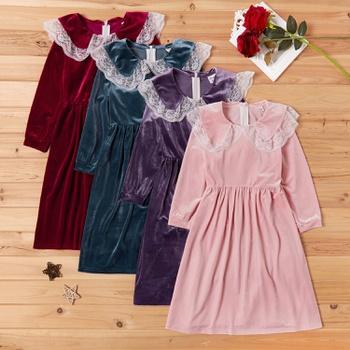 Trendy Doll Collar Long-sleeve Dresses