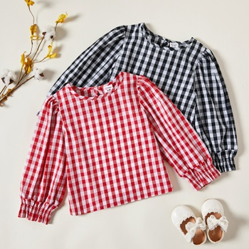 Toddler Girl Plaid Shirt & Smock