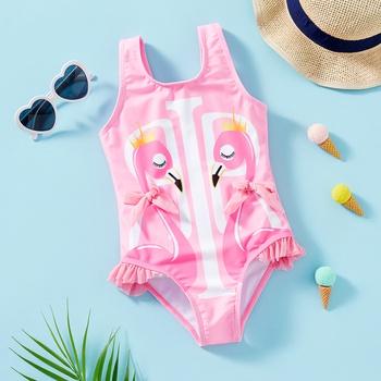 Toddler Girl flamingo Swimsuit