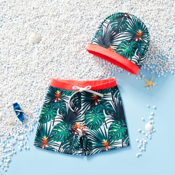 1pc Baby Boy Floral Swimming Trunks