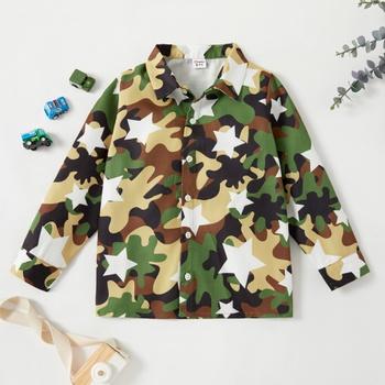 Kid Boy Camouflage & Stars Coat & Jacket