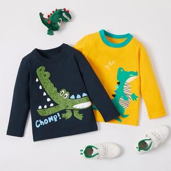 Baby / Toddler Boy Cartoon Dinosaur Print Long-sleeve Tee