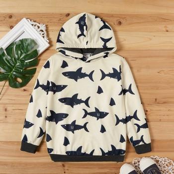 Kid Boy Shark Hooded Sweatshirt