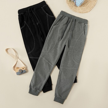 Trendy Solid Sporty Casual Pants