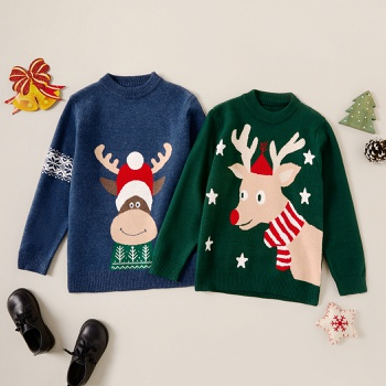Stylish Christmas Elk Print Knitted Sweater