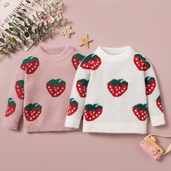 Baby / Toddler Girl Strawberry Long-sleeve Sweater