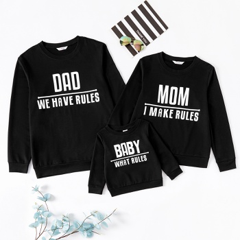 Letter Print Family Matching Sweatshirts