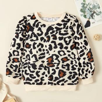 Kid Girl Leopard Sweatshirt