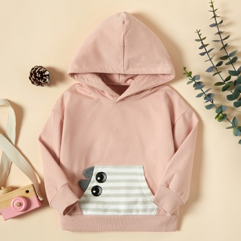 Baby / Toddler Girl Cutie Splice Hooded Pullover