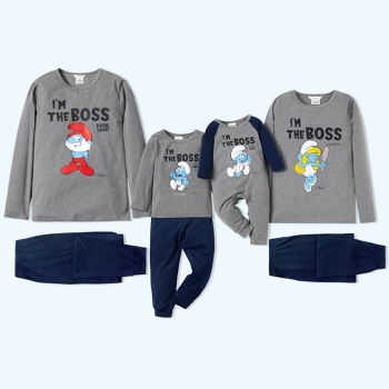 Smurfs Boss Colorblock Family Matching Pajamas Set(Flame Resistant)