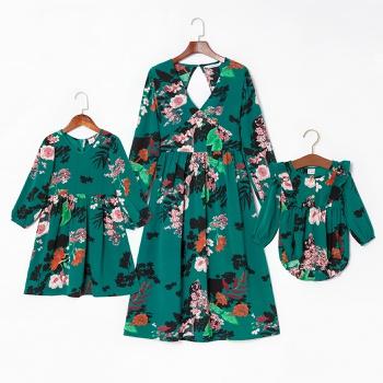 Floral Print Matching Dresses