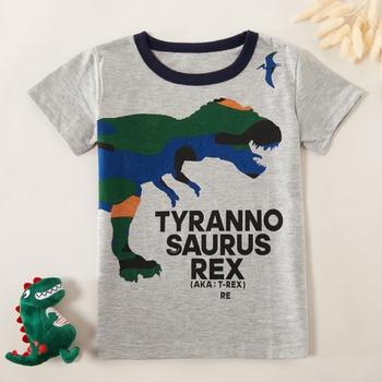 Stylish Dinosaur Letter Print Tee