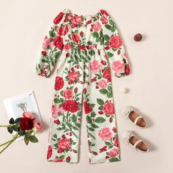 Kid Girl Floral Jumpsuit