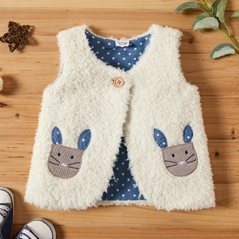 Baby Girl Sweet Rabbit Vest
