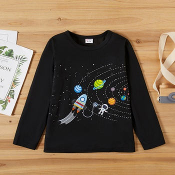 Kid Boy Galaxy Print T-shirt