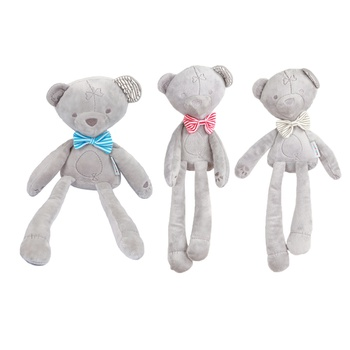 Cute Bow Bear Plush Pillow Infant Soft Toy Baby 's Playmate gift