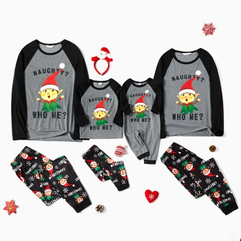 Elf Pattern Family Matching Pajamas Sets(Flame resistant)