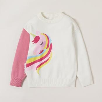 Trendy Unicorn Print Sweatshirt