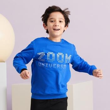 Kid Boy Letter Print Sweatshirt