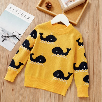 Baby / Toddler Whale Pattern Long-sleeve Sweater