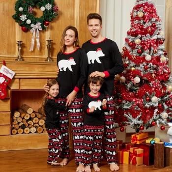 Mosaic Family Matching Bear Christmas Pajamas Sets (Flame Resistant)