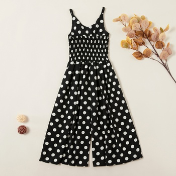 Trendy Polka Dots Suspender Pants
