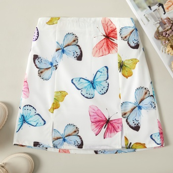 Trendy Beautiful Butterfly Allover Print Skirt
