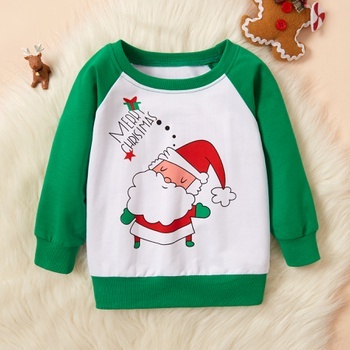 Baby / Toddler Christmas Santa Claus Letter Print Pullover