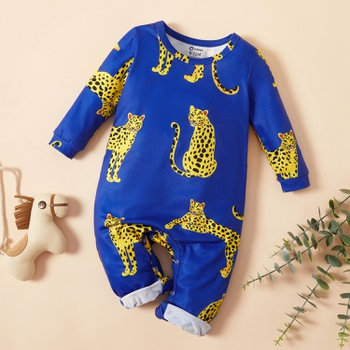 Baby Stylish Leopard Jumpsuits