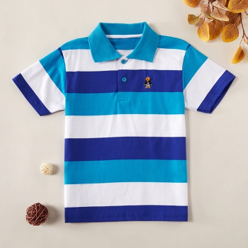 Trendy Striped Polo Shirt